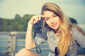 hipster girl beautiful hipster girl with photo camera stock image image of