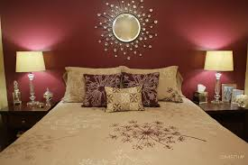 Red And Cream Bedroom Ideas - maroon bedroom wall i like the pillow arrangement too maroon