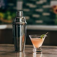 martini shaker silhouette amazon com cocktail shaker set 24 oz stainless steel bar kit