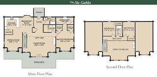 Floor Plans For Log Cabins 2 Story Log Home Floor Plans