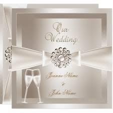 fancy wedding invitations wedding damask white chagne card zazzle