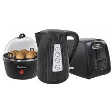 Kettle Toaster Ovation Breakfast Pack Kettle Toaster U0026 Egg Cooker Black
