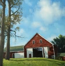 learn to paint an old red barn acrylic tim gagnon studio