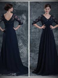 navy bridesmaid dress with lace trendyni
