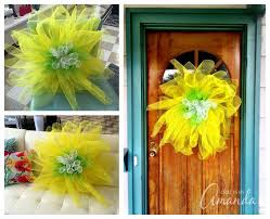 sunflower mesh wreath deco mesh flowers how to make several varieties