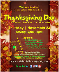 thanksgiving day community dinner celebration noho arts district