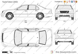 toyota celsior 2002 the blueprints com vector drawing toyota celsior