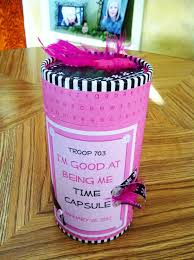 troop time capsule crafts by friends