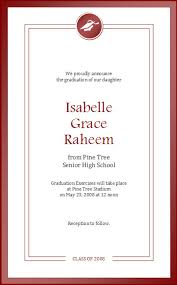 senior graduation announcement templates high school graduation announcement