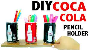 Desk Pencil Holder Diy 3 Mini Coca Cola Pencil Holder Desk Decor Youtube