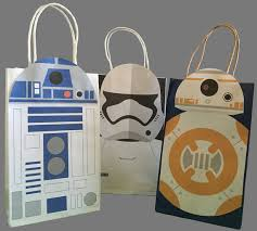 wars gift bags wars r2d2 bb8 stormtrooper party favor bag printables