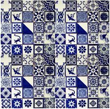 Mexican Tile Bathroom Designs Blue U0026 White Mexican Tile Handmade Talavera Backsplash Handpainted