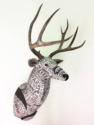 destinations mount upholstered faux taxidermy deer head real