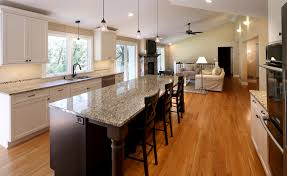 Design Open Concept Kitchen Living Room by Top Open Concept Kitchen Living Room With Wrap Around Bar Home