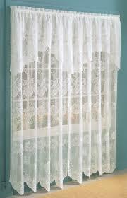 Cheap Lace Curtains Sale Scalloped Lace Panels White Lichtenberg White Curtains