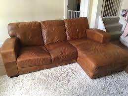 Brown Leather L Shaped Sofa Leather L Shaped Sofa In Rawdon West Gumtree