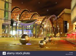 the winter garden on millennium square in sheffield city centre
