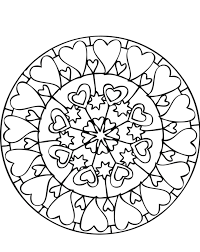 mandala coloring pages lots of hearts mandala coloring pages of