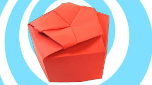 paper origami pentagonal gift box instructions youtube