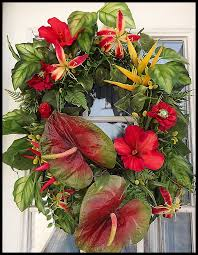tropical summer wreath wreath ideas pinterest wreaths