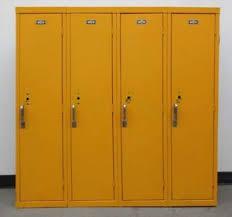 metal kids lockers used yellow kids school metal lockers 48 w x 12 d x 48 h
