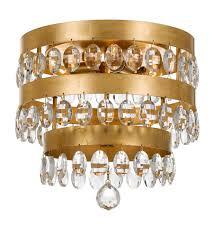 gold flush mount light crystorama 6100 ga perla 4 light 14 inch antique gold flush mount