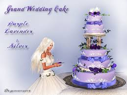 wedding cake lavender second marketplace dr3amweaver grand wedding cake purple