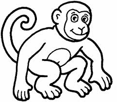 easy outlines of animals monkey template animal templates free premium templates