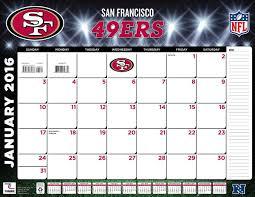 amazon com turner san francisco 49ers 2016 desk calendar