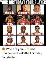 December Birthday Meme - your birthday your player january februaryi march rockets stxero
