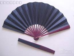 silk fans large plain black fans diy folding silk fan