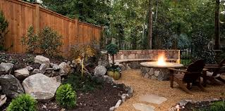 Backyard Stone Fire Pit by Outdoor Stone And Brick Masonry Firepit Design And Construction