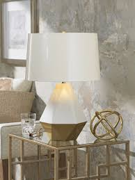 interior design interesting table lamp on glass table by