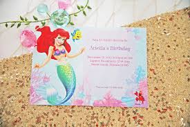 wrap party invitations little mermaid party ideas disney party ideas at birthday in a box