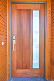 wood and glass exterior doors contemporary front door with exterior stone floors glass panel