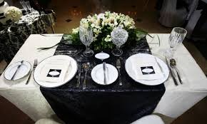 Wedding Table Set Up 35 Black And White Wedding Table Settings Table Decorating Ideas