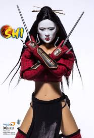 samurai halloween costume phicen limited shi asian female figure katana w throwing star