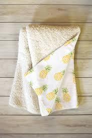 pineapple express fleece throw blanket forest
