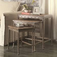 West Elm 2x2 Console Desk Industrial End U0026 Side Tables You U0027ll Love Wayfair