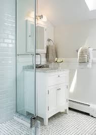 Transitional Vanity Lighting Beadboard Bathroom Vanity Powder Room Craftsman With Mirror Rubbed