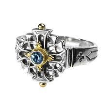 cross rings silver images Designer jerusalem cross ring gerochristo 2169 gold silver jpg