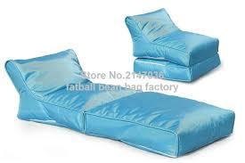 canap hamac bleu portable sac de haricots chaise pliage pouf extérieur hamac