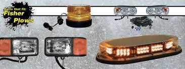 snow plow strobe lights headlights fisher snow plow parts
