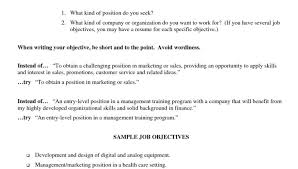 Program Manager Resume Objective Marketing Resume Objectives Project Manager Resume Objective And