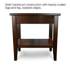 amazon com leick laurent chairside end table with drawer kitchen