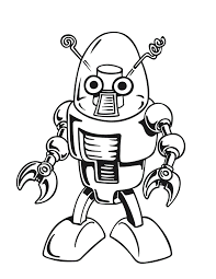 great coloring pages robot 51 on free coloring book with coloring