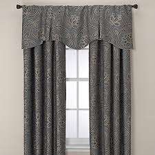 Home Classics Blackout Curtain Panel Jacobean Rod Pocket Back Tab 95 Inch Window Curtain Panel In Aqua