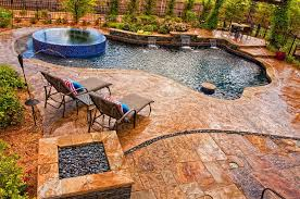 outdoors amazing backyard with awesome pool and jacuzzi and