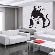 banksy wall stickers banksy wall decor banksy rat a wall sticker