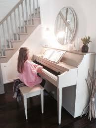 trash to treasure ideas home decor trash to treasure chalk painted piano white walls grey stairs
